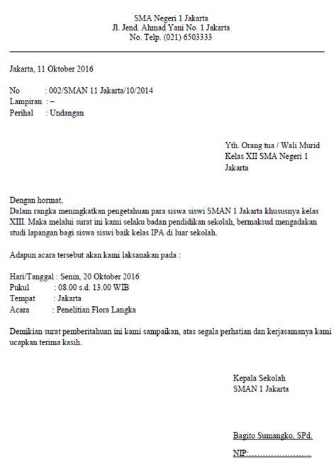contoh surat dinas sekolah resmi  benar formatsuratcom