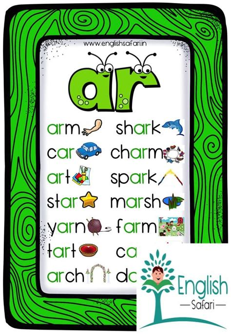 phonics ar words poster    controlled vowels
