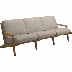 Gartensofa 3 Sitzer : garten lounge sofa bay gloster 3 sitzer ~ Lateststills.com Haus und Dekorationen