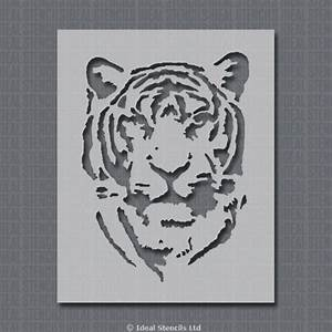 Tiger Face Stencil - Home Decor Craft Ideal Stencils
