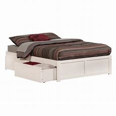 Atlantic Furniture Concord White Full Platform Bed With