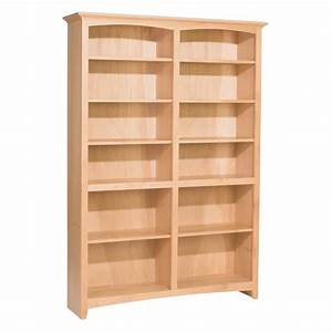 Whittier Wood McKenzie Bookcase Collection – 48″ wide, 72