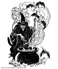 Vintage Halloween Witch Clip Art