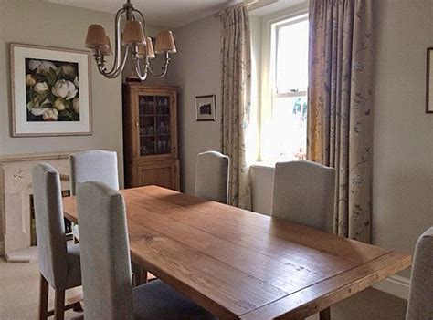 glazed oak display cabinet  matching dining table