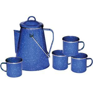 You have to make sure you put the pot in last as it will hit the switch and then there will be water everywhere when it drips. Stansport Enamel 8 Cup Coffee Pot With Percolator And 4 12 ...