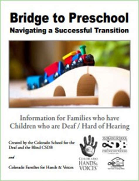 transition from early intervention to preschool bridge to preschool 106