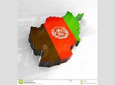 3d flag map of afghanistan stock illustration Image of