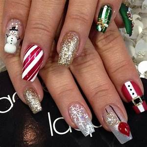 Best 25 Christmas acrylic nails ideas on Pinterest