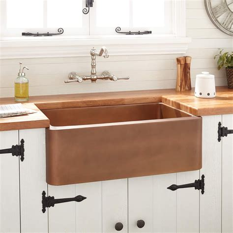 copper farmhouse kitchen sinks 30 quot kembla copper farmhouse sink farmhouse sinks kitchen