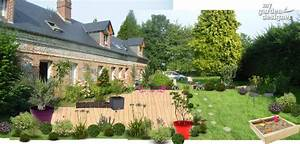 amenagement paysager du jour une longere normande et sa With photos amenagement jardin paysager 17 amenagement terrasses