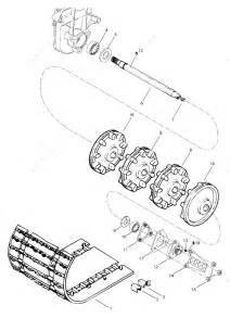 Ski Doo 1997 Formula - 500  Drive Axle And Track