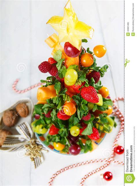 creative fruit christmas tree   berries