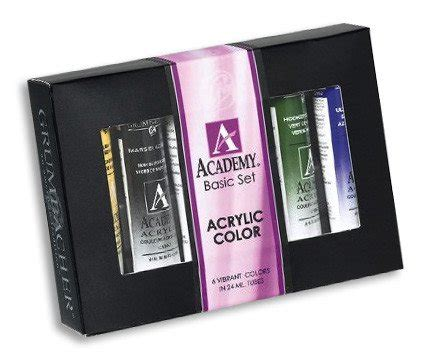 grumbacher basic 24 academy acrylic paint 6 color the compleat sculptor the compleat
