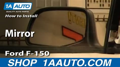 online auto repair manual 2012 ford f150 windshield wipe control how to install replace side rear view manual mirror ford f 150 92 96 1aauto com youtube