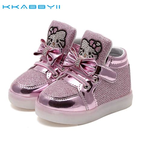 baby light up shoes kkabbyii kids new fashion children shoes with led light up