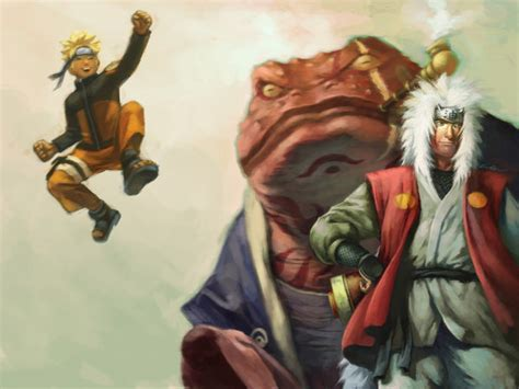 Naruto And Jiraiya By Cuson On Deviantart
