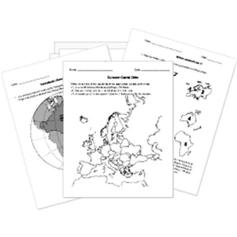 printable geography tests  worksheets