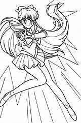 Sailor Coloring Moon Pages Venus Anime Pretty Scouts Sketches Drawings sketch template