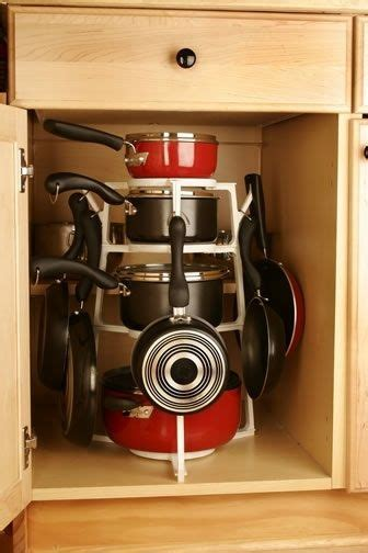 clever ways  organize pots  pans armazenamento