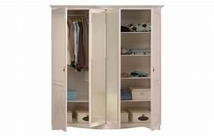 Armoire Blanche Miroir : armoire design blanche avec miroir barok miliboo ~ Teatrodelosmanantiales.com Idées de Décoration