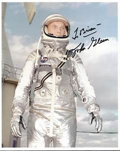 John Glenn NASA astronaut and US senator signed 10 x 8 colou