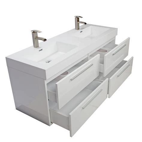 modern double sink vanity buy 54 inch modern double sink vanity set with drawers