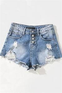 Light Blue Cotton T Shirt Light Blue Acid Wash Shredded Accent Raw Hem Denim Shorts