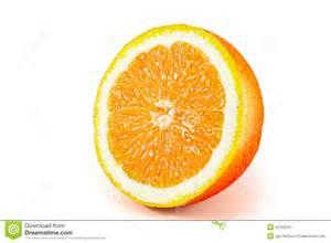 Orange Fruit Isolated White Background Stock Photo