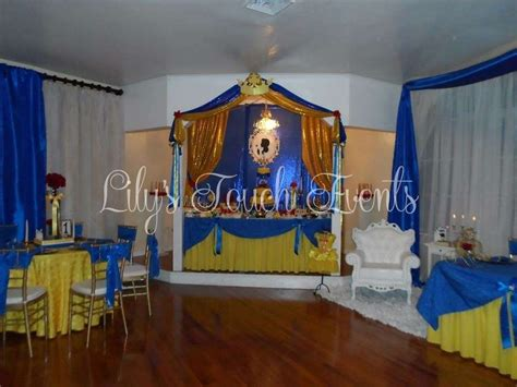 belle beauty   beast quinceanera party ideas