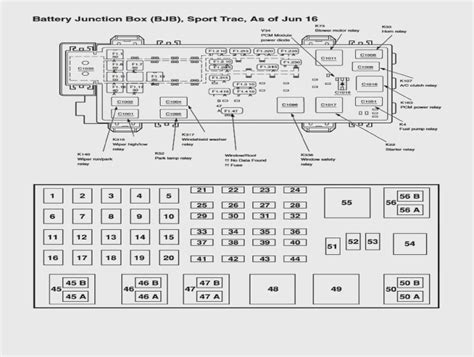 Fuse Box Diagram For 2003 Ford Explorer Sport by 2000 Ford Explorer Limited Fuse Box Diagram Wiring