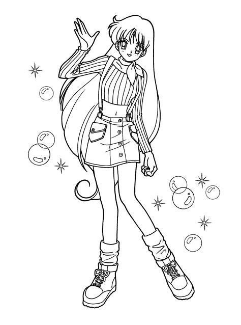 Anime Kleurplaat by Coloring Page Sailormoon Coloring Pages 92 Anime