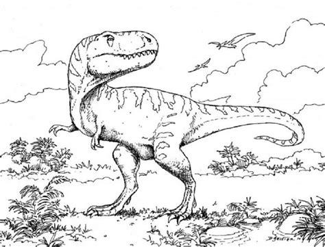 We hebben mooie kleurplaten van verschillende soorten dinosaurussen. Kleurplaat Dinosaurus Rex