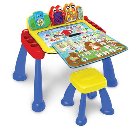 vtech learning activity desk vtech expands learning fun with new three in one