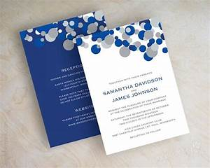 blue and silver polka dot wedding invitations sapphire With wedding invitation designs color blue