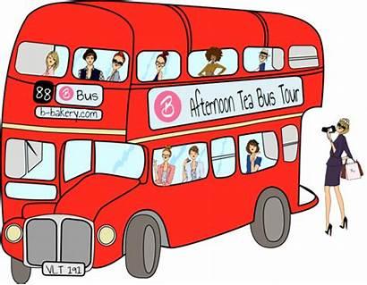 Bus Clipart London Person Tour Tea Transparent