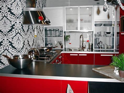 Ikea Black, White, Red Kitchen