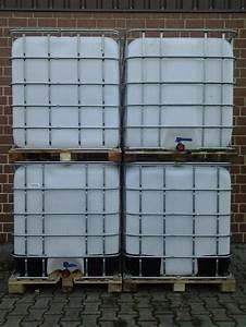 Zisterne 1000 Liter : 1000 liter wassertank ibc regenwassertank container zisterne regenwasser in marl pflanzen ~ Frokenaadalensverden.com Haus und Dekorationen