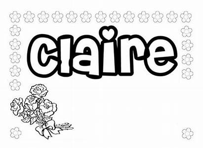 Coloring Pages Names Boys Claire Tons Sheets