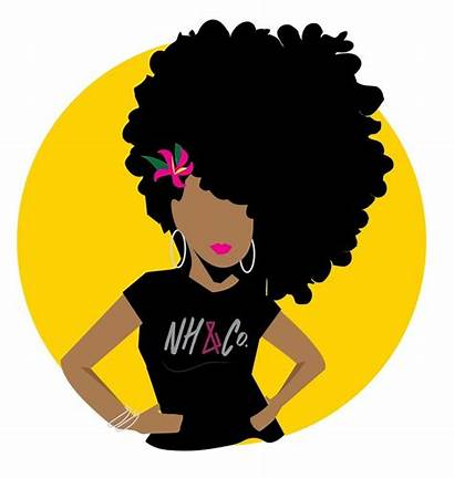 Hair Natural Afro Clipart Company Logos Brands
