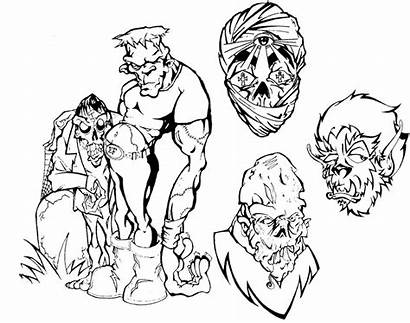 Tattoo Flash Tattoos Horror Drawing Outlines Dripping