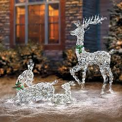 led lighted wireframe reindeer family outdoor yard decor ebay decor