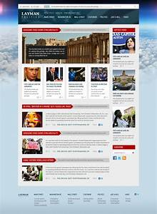 download 50 free website psd templates ginva With news site template free download