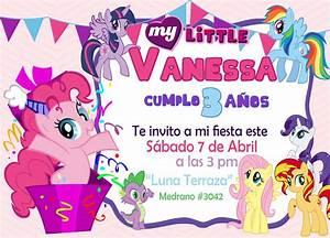 Invitación Tipo Pizarron My Little Pony $ 50 00 en Mercado Libre
