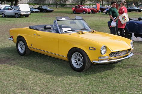1970 Fiat 124 Spider by File 1970 Fiat 124 Spider Sport Yellow Fvr 1