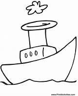 Cartoon Boat Coloring Boats Sailboat Clipart Cliparts Printable Colouring Steamboat Border Clip Ship Goat Library Tugboat Coloringpages Borders Bumper Children sketch template