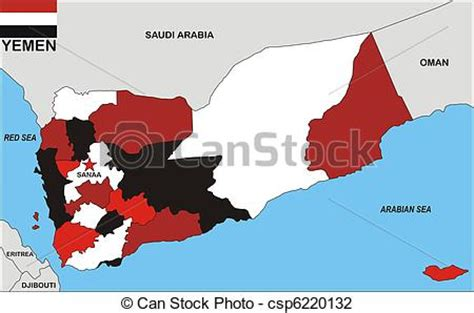 clip art  yemen map political map  yemen country