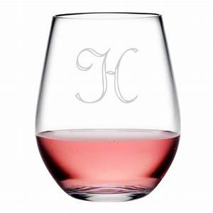 Personalized, Acrylic, Stemless, Wine, Glass, Set, Of, 4