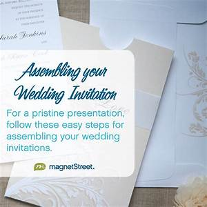 wedding invitation assembly magnetstreet weddings With etiquette assembling wedding invitations