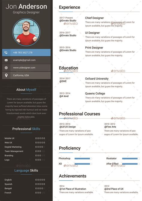 Cv Free by 54 Premium Free Psd Cv Resumes To Find A