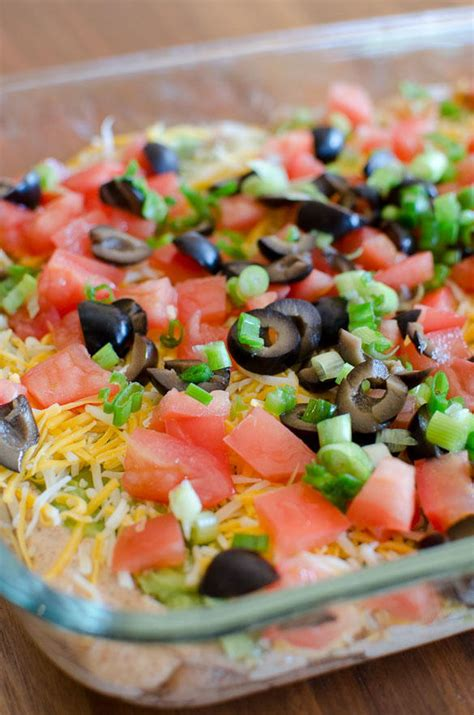 This link is to an external site that may or may not meet accessibility guidelines. Speedy 7-Layer Bean Dip | FaveSouthernRecipes.com